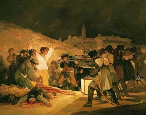 Goya painting of Spanish soldiers being executed by firing squad